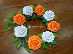 Corona de fomy Grave Decorations, Funeral, Diy And Crafts, Wedding Flowers, Floral Wreath, Wreaths, Bridal, Ideas Para, Plants