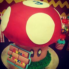 super mario cake design red velvet mushroom