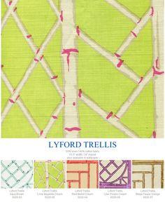 New colors of China Seas Lyford Trellis.