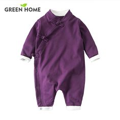 5672484a8 2017 NEW Baby Rompers Winter Thick Warm Baby boy Clothing Long ...