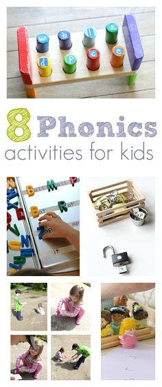 Phonics games. Letter sound activities for kids.