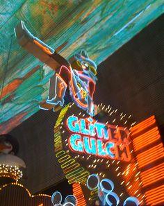 Glitter Gulch at night