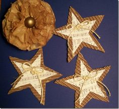 Thinking about making these for the tree...we make all of the ornaments!