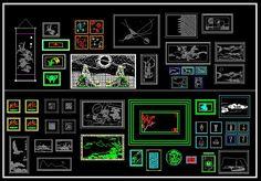 CAD Library-AutoCAD Blocks & Drawings : ★【Decoration Elements Block V2 】★