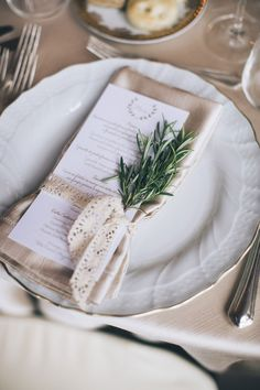 Allison and Davide's Wedding in Florence // Paper Please Studio Wedding Menu // Grey Likes Weddings