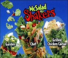 Omg! I loved these! Wish McDonalds would bring them back! This is how I leads that shaking your salad is the easiest way to to evenly distribute salad dressing