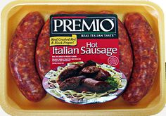 Premio Hot Italian Sausage Made with crushed red and black peppers ...