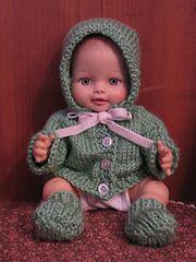Bitty Baby Layette Ravelry: Bitty Baby Layette pattern by Janice Helge Kids Knitting Patterns, Knitted Doll Patterns, Baby Sweater Patterns, Baby Clothes Patterns, Knitted Dolls, Baby Patterns, Dress Patterns, Sewing Patterns, Sewing Ideas