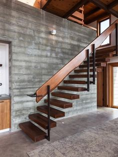 Rustic Stairs Railing Banisters Ideas For 2019 Outdoor Stair Railing, Staircase Railings, Wooden Staircases, Banisters, Stairways, Rustic Stairs, Rustic Entryway, Wooden Stairs, Railing Design