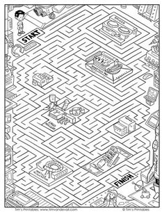 Help George travel through his science lab, from start to finish. This challenging maze printable features characters from my comic strip, Ergo. Maze Worksheet, School Worksheets, Worksheets For Kids, Mazes For Kids, Activities For Kids, Science Education, Science Labs, Elementary Science, Physical Science