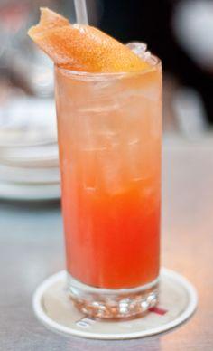 The Aperol Paloma Cocktail Recipe  •1/2 ounce st. Germain Elderflower Liqueur   •1 1/2 ounces Aperol (or Campari)   •1 1/2 ounces grapefruit juice   •3/4 ounce peach juice   •1/2 ounce lime juice   • sparkling cava wine to top