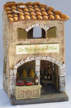 la boutique de l'olive Clay Houses, Ceramic Houses, Miniature Houses, Pottery Houses, Gnome House, Spanish Style Homes, Fairy Garden Houses, Little Houses, Mini Houses