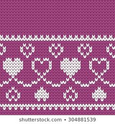 The knitted borders collection by Gala titmouse contains 296 high quality photos and images available for purchase on Shutterstock. Beginner Knitting Patterns, Fair Isle Knitting Patterns, Knitting Stitches, Knitting Designs, Baby Knitting, Crochet Patterns, Little Cotton Rabbits, Pattern Library, Tapestry Crochet