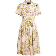 Project D by Dannii and Tabitha Penelope Floral Tea Dress (€390) ❤ liked on Polyvore featuring dresses, short sleeve dress, floral dresses, summer dresses, collared dresses and floral summer dresses