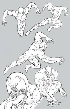 Spider-man and Venom Poses by robertmarzullo on DeviantArt - Animal Spiderman Poses, All Spiderman, Drawing Reference Poses, Drawing Poses, Anatomy Reference, Drawing Tips, Art Drawings Sketches, Eye Drawings, Art Illustrations