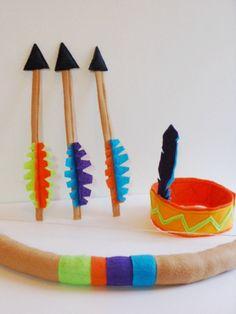 Kids Indian Dress Up Set  Kids Felt Bow Arrow by TinyDisguises, $36.00