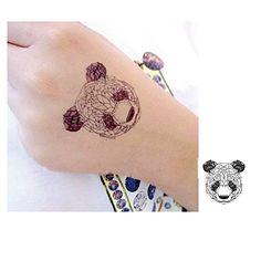 Panda Tattoo , Temporary Tattoo, Tattoo, Body Tattoo. 2 piece / pack. Size for Tattoo: 4.5 x 4.5cm.