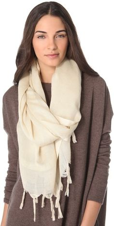 Love Quotes Knotted Tassel Linen Scarf | Amazon.com's SHOPBOP SAVE 25% use Code:GOBIG14