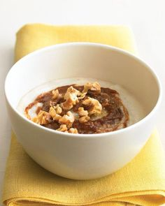 Hot Cereal with Apple Butter and Walnuts Recipe