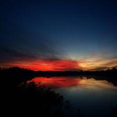 Sunrise colour over Waterways, Mordialloc/Aspendale, Australia
