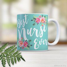 Nurse Mug, Nurse Gift, Nurse Mugs, Nurse Coffee Mug, Nurse Graduation Gift, Nursing Graduation, RN Gifts, Nurse Appreciation Gift, N0008 by WillowAndOlive on Etsy
