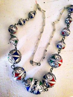 #deco #necklace #one1earth #handmade #Morocco #Jewelry  $49.95 https://www.facebook.com/OneEarthwithm