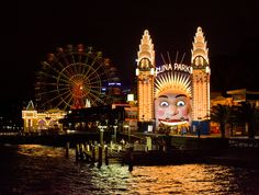 Luna Park Sydney Night, looks cool I'm guessing it is like Six Flags but I want to go and see