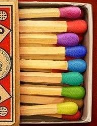 Colored Matches- change color when you light them