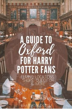 """This is the ultimate guide to Harry Potter in Oxford, written by an Oxford University student who attended the """"Harry Potter"""" college for four years. Get the low down on Harry Potter filming locations, Harry Potter shops and even a spot of Quidditch! Oxford Harry Potter, Harry Potter Tour, Harry Potter Filming Locations, Literary Travel, Ireland Travel, Scotland Travel, London Travel, Travel Europe, Book Lovers"""