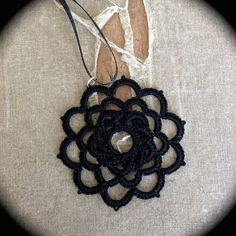 Tatted Lace Pendant Woven Rose Choose Your Color by TotusMel