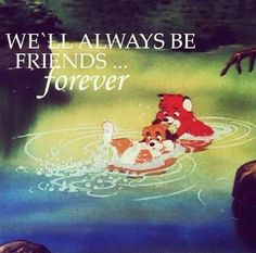 "Fox and the hound ""friends forever"""
