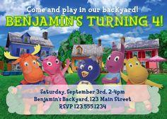 Backyardigans party invite