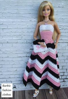 Barbie crochet super estilosa