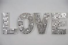 coins on letters