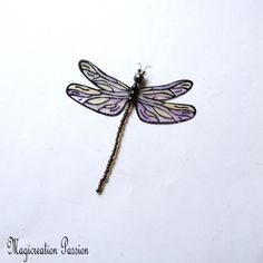 "magnet libellule transparente parme 8 cm ""Demoiselle"" +1 aimant Magnet, Lotus Flower, Tattoos, Decoration, Polyester, Dimensions, Etsy, France, Boutique"