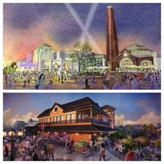 """Here's a first look at two new experiences coming to Disney Springs at the Walt Disney World Resort! The Edison will be a lavish """"industrial Gothic""""-style restaurant, bar and nighttime destination while STK Orlando will be the only spot at Disney Springs to offer rooftop dining, in a gorgeous lounge setting. Disney World Planning, Disney World Vacation, Disney Cruise Line, Disney World Resorts, Disney Vacations, Florida Resorts, Hotels And Resorts, Downtown Disney, Walt Disney"""
