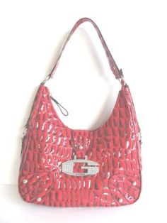 63ca1f1032 Guess Teresa Bling Croco-style Medium Hobo Handbag Purse