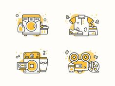 Weekend activity icons designed by Mehvish . Connect with them on Dribbble; the global community for designers and creative professionals. Icon Design, Flat Design Icons, Badge Design, Form Design, Ppt Design, Line Illustration, Graphic Design Illustration, Illustrations, Laundry Icons