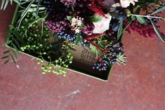 Bridesmaid arrangement - moody, berries, amaranthus, hyacinth @dittodittoflorals Amaranthus, Florals, Our Wedding, Berries, Bridesmaid, Floral, Maid Of Honour, Bridesmaids, Flowers