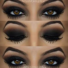 Seductive Black Smokey Eye for Brown Eyes