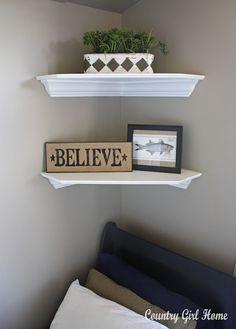 corner shelves in poconos