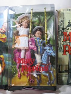 Disney Pink Label Barbie Collector Bert Jane Michael Franklinmint Mary Poppins