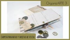 OrganizARTE3: Carpeta para notas y tarjetas de visita. Tip cierre con lá...