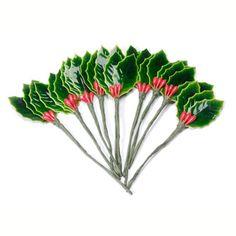 Holly Leaf-Green-1-1/2 Inch