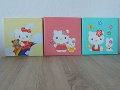 Hello Kitty olieverf schilderijtjes.