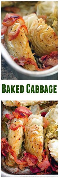 Low Carb Meals Baked Cabbage - Made in a roasting pan in the oven this is a delicious way to enjoy cabbage! Your family will love it! - Baked Cabbage - Made in a roasting pan in the oven this is a delicious way to enjoy cabbage! Your family will love it! Side Dish Recipes, Vegetable Recipes, Low Carb Recipes, Vegetarian Recipes, Cooking Recipes, Healthy Recipes, Vegetable Samosa, Dishes Recipes, Veggies