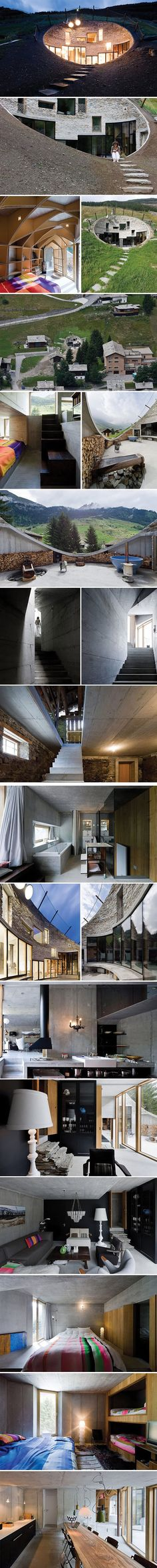 Swiss Underground Moutain House.