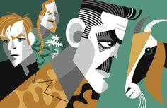 """The Men Who Stare at Goats"" by Pablo Lobato. [Graphic Design Illustration]"