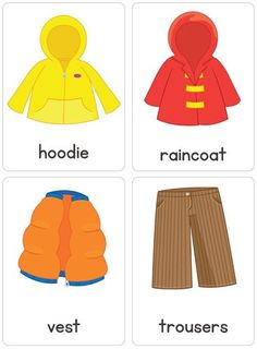 Clothing Flash Cards – Busy Little Bugs Body Preschool, Preschool Education, Preschool Math, Preschool Worksheets, Printable Worksheets, Kindergarten, Printables, English Primary School, Teaching English