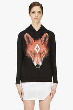 #sweatshirt #black #fox #graphic #cool #fashion